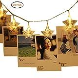 EisEyen 3M 30LED Foto Clip Blinkt Warmweiß Lichterketten für innen, Haus, Weihnachten, Hochzeit, Schlafzimmer