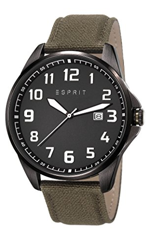 Esprit ES107991001 - Reloj de cuarzo para hombre, correa de otros materiales color verde
