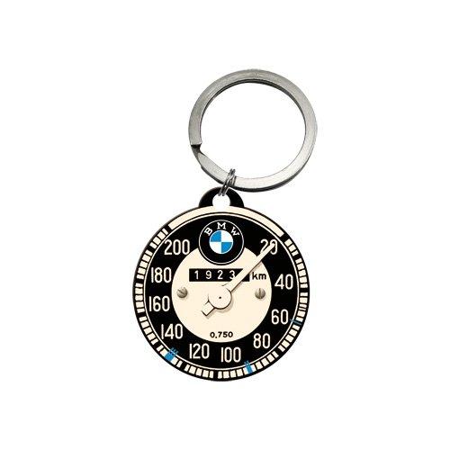 Nostalgic-Art 48016 BMW - Tachometer | Schlüsselanhänger | Metall-Schlüsselanhänger | Rund | 4 cm