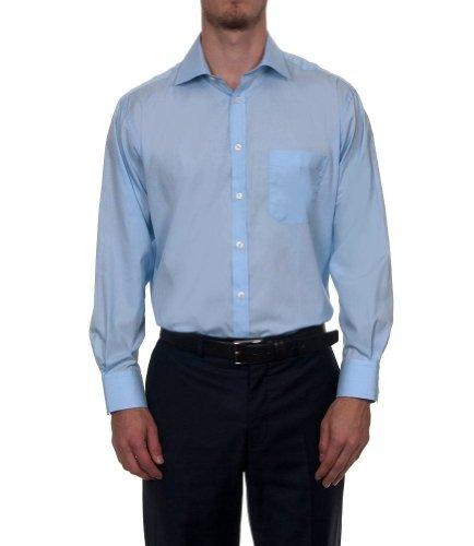 Hawes & Curtis Herren Business Hemd Klassischer Schnitt Baumwolle Buegelleicht Blau
