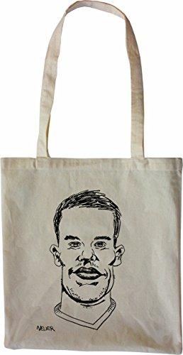 Mister Merchandise Tasche Manuel Neuer Stofftasche , Farbe: Schwarz Natur