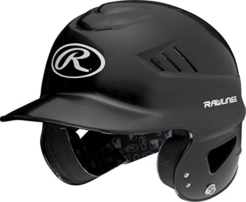 Rawlings Coolflo Nocsae Batting Helm, schwarz, one Size -