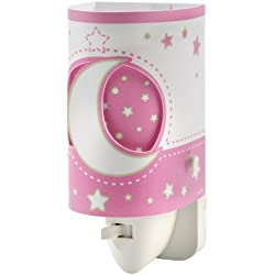 Dalber 63235Ls - Luz Nocturna Led para Habitación Infantil, diseño de Luna, color Rosa