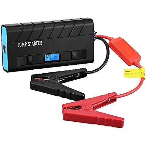 Pictek Arrancador de coche, Car Jump Starter, el banco portable, cargador 13600mAh batería recargable,incorporada linterna LED, para 12V 4.0L Gas / 2.8T motor diesel, para el exterior / Emergencia / Drivers