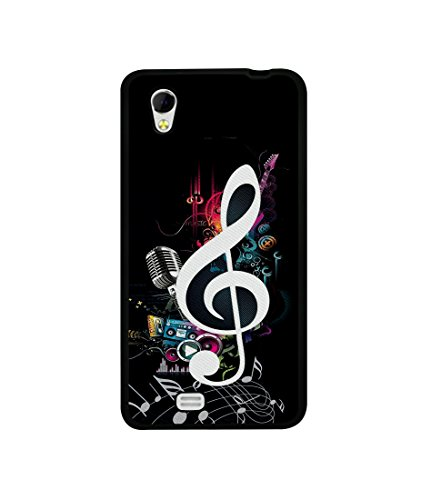 Casotec Music Design Canvas Printed Soft TPU Back Case Cover for Gionee Ctrl V4s  available at amazon for Rs.349