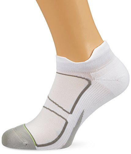 Kissen Tab Socke (Feetures! Elite Light Cushion NO SHOW TAB - Laufsocken - Sportsocken (L (42-46), Fuchsia /Reflector))