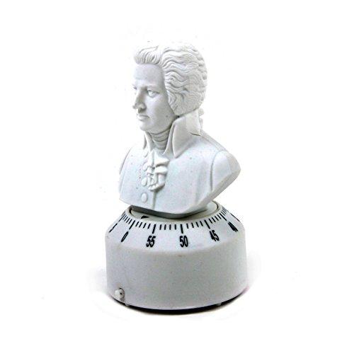 Kikkerland Küchentimer, Kunststoff, Weiß, 6.4 x 6.1 x 13.5 cm Kikkerland-timer