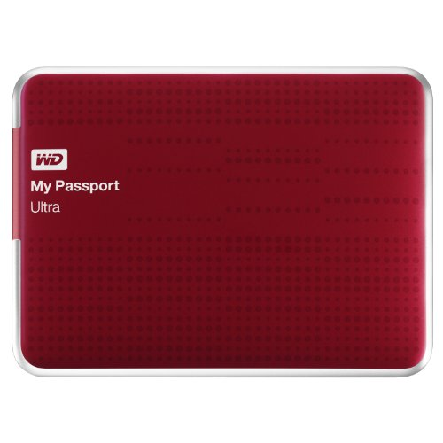 WD My Passport Ultra 1TB USB 3.0 Portable Drive with Auto and Cloud Backup - Red
