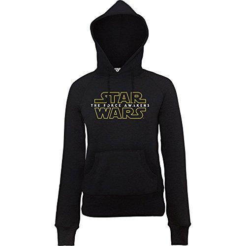 Official Star Wars VII vigore Awakens 2 Logo, dicono le donne s-Felpa con cappuccio nero XS