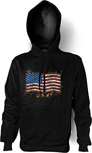 Kapuzenshirt - Amerikanische Flagge - Stars and Stripes - USA Hoodie mit Motiv als Geschenk für Amerika Fans