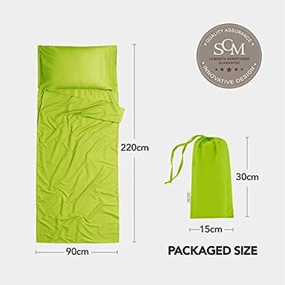 Silk Soft Sleeping Bag Liner - Lightweight Travel Sheet Camping Sleep Bag Prevent Dirty On Business Hotel 5