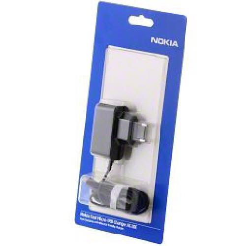 Nokia Ladegerät Micro-USB AC-10E für Nokia E52, E72, E75, N85, N86, N97, N900, X3, 3710, 6700, 7230, 7900, C5-00, Lumia 710, 800, 900, 920 1200mA - E72 Nokia