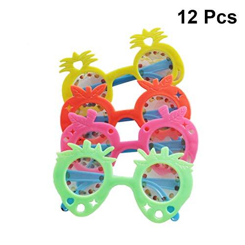 Toyvian Cartoon Brille süße Frucht Geformte Sonnenbrille Foto Requisiten Hochzeit Bevorzugungen Zubehör für Kinder 12 Stück (zufällige Farbe)