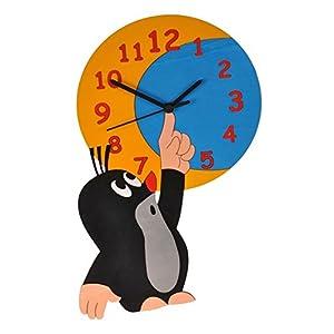 Wanduhr Uhr – der kleine Maulwurf – Kinderzimmer Kinderuhr