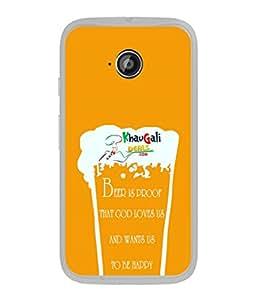PrintVisa Designer Back Case Cover for Motorola Moto E :: Motorola Moto E XT1021 :: Motorola Moto E Dual SIM :: Motorola Moto E Dual SIM XT1022 :: Motorola Moto E Dual TV XT1025 (Drink Cheers Party Enjoy Wine Beear Glas)