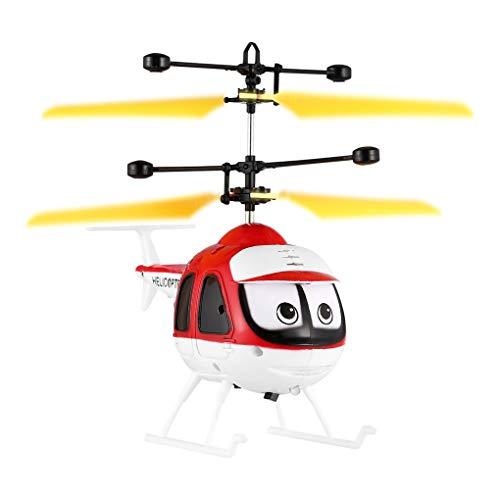 La inducción de Dibujos Animados Juguetes voladores RC helicóptero de Control Remoto Aviones no tripulados Avión Kid Juguetes Regard