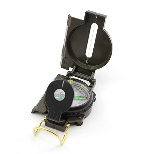 American Military Kompass Survival Lupe Linsenkompass Objektiv für Notfall Camping -