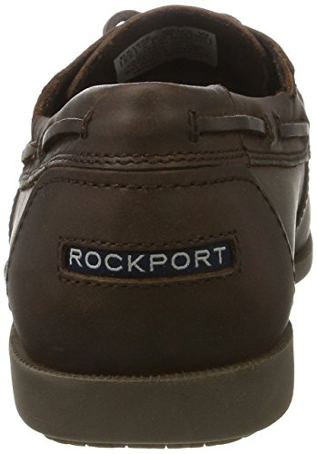 Rockport Herren Summer Sea 2-Eye Bootsschuhe Braun (Dk Brn Lea)