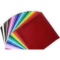 Scraft Artise Paquete de 40 vinilos para exteriores permanentes, 2 hojas de cada color surtido, tamaño de 30,5 x 30,5 cm, vinilo artesanal adhesivo para utilizar con cortadores de Silhouette y Cricut