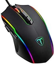VicTsing Gaming Mouse سلكية، Optical Mouse with 8 Programmable Buttons and Chroma RGB Backlight 7200 DPI Adjustable, Ergonom