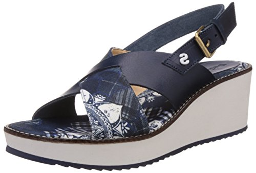 DesigualAlexia 5 - Sandali con zeppa Donna, Blu (5006 Jeans), 40