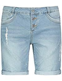 8e34e149fc15ed Fresh Made Jeans con Taglio Boyfriend firmati Bermuda | Pantaloncini di  Jeans da Donna Effetto Used
