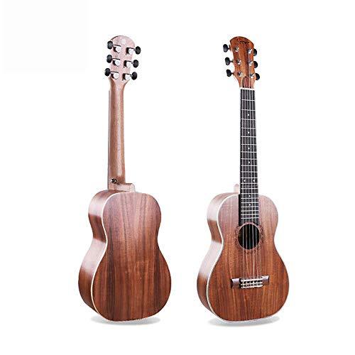 Hjyi Konzertgitarre Akustische Gitarre Fichte Sapele Nylon String Matte Akazie 6 String Kleine Gitarre (30 Zoll) - Akustische Nylon-gitarre Elektro