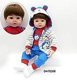 iCradle Bambole in Tessuto Reborn / 22 Pollici Reborn Baby Body + Morbido Silicone Vinile Realistico Bebe Reborn Boy Dolls for Child Play (22Inch)