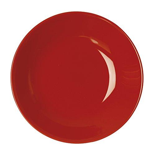 Excelsa Trendy Assiette Creuse, céramique, 20 x 20 x 4 cm 20x20x4 cm Rouge