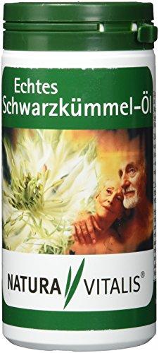 Natura Vitalis Echtes Schwarzkümmel-Öl, 360 Softgel Kapseln im 1er Pack (1 x 252 g)