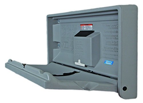 Baby Changing Table Horizontal Wall Mounted - Discounted Cleaning Supplies - Koala Kare Discounted Cleaning Supplies 4 Fixing Points for Extra Safety. No external hinges to prevent pinch injury Genuine Microban anti bacterial protection!! Shallow Compact Unit. Less the 10cm deep when folded. NOW WITH Built in liner dispenser 1