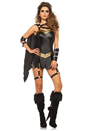 Leg Avenue 85415 - Costume per travestimento da guerriera dark, Donna, S