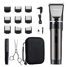 WONER Haarschneidemaschine, Profi Männer Haarschneider Haartrimmer mit 35 Längeneinstellungen,Langhaarschneider,16-teiliges Haarrasierer Set für Familien