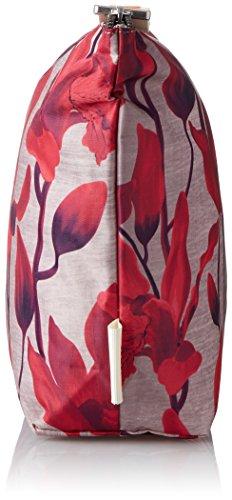 Oilily - Ruffles Cosmeticpouch Lhz 1, Pochette da giorno Donna Rosso (Dark Red)