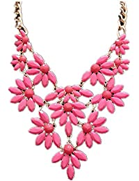 TBOP NECKLACE THE BEST OF PLANET Simple And Stylish Jewelry Textured Necklace In Pink Color