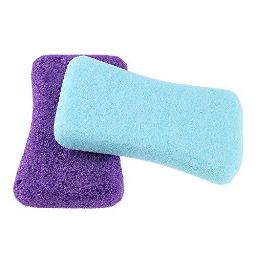 Harte Haut Füße (Homyl 2 Stück Bimsstein Schwamm Stein, Fuß Harte Haut Dead Hornhaut Peeling Entferner Fußpflege Pediküre Werkzeug - B)