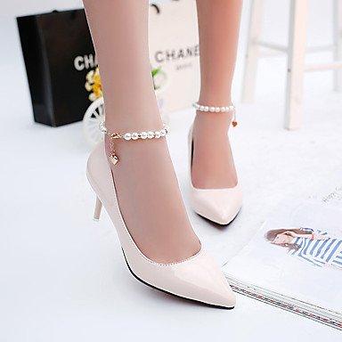 Moda Donna Sandali Sexy donna tacchi Primavera / Autunno Punta PU Outdoor Stiletto Heel altri nero / rosa / rosso / bianco a piedi Pink