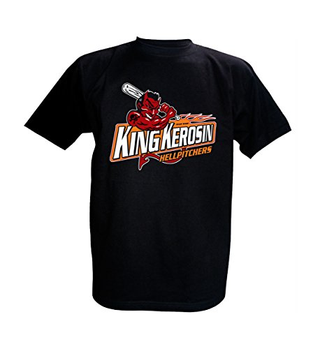 King Kerosin T-Shirt Hellpitchers (3XL, Schwarz) (Aufkleber Tattoo Gun)