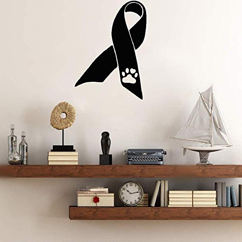 che Ribbon With Paw Print For Car Sticker home decor ()