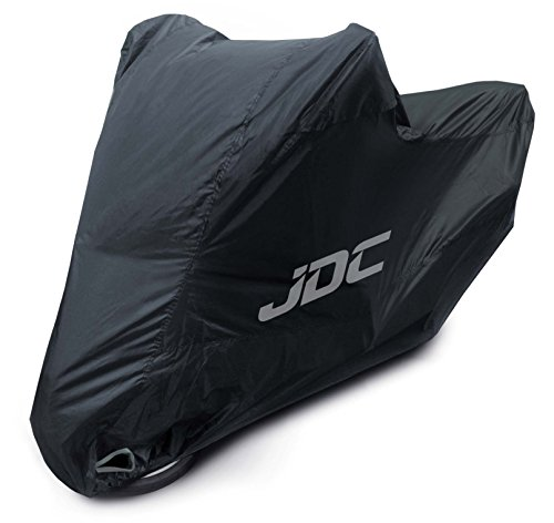 JDC Motorcycle 100% Waterproof Cover - ULTIMATE RAIN (Heavy Duty, Soft Lining, Heat Resistant Panels, Taped Seams) -- Size L