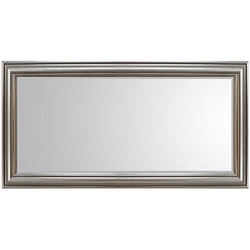 XL Wandspiegel Barspiegel Frisierspiegel Spiegel mit Facettenschliff 102x52cm - Silbergold