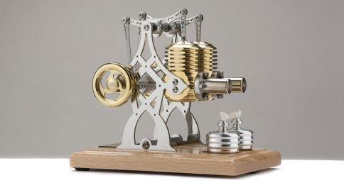 Böhm Stirling Technik Heißluft/Stirling Modell Wissenschaftliches Spielzeug HB26, Fertigmodell, Natur