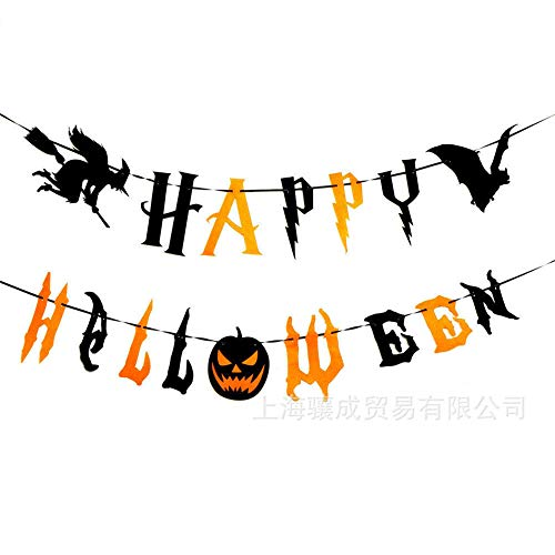 Xiton Halloween Party Supplies Cute Fun Party Favors Decoration Happy Halloween Theme Burlap Banner Wall Décor for Home, School, Office, Party Decorations