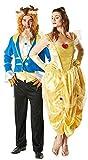 Herren & Damen Paar Märchen Belle Disney Die Schöne und das Biest Kostüm Verkleidung Outfit - Mehrfarbig, Mehrfarbig, Ladies UK 8-10 & Mens STD