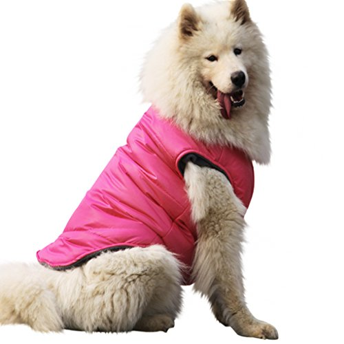 Dog Warm Fleece Lined Jacket Padded Waterproof Vest for Winter Autumn Spring Soft Cozy Outdoor Pet Clothes Rain Coat Slicker Raincoat for Small Medium Large Puppy