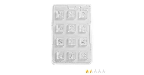 PVC Cacao segni zodiacali Stampo per cioccolatini 12/cavit/à 17/x 26/x 1.5/cm