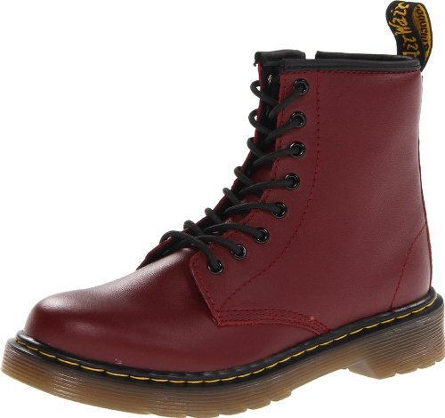 Dr. Martens Unisex-Kinder DELANEY Softy T CHERRY RED Bootsschuhe, Rot), 36 EU