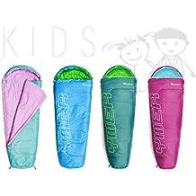 Meteor Outdoorer Premium Saco de dormir infantil, mint / pink (Azul / verde)