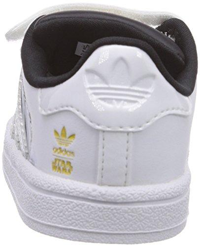 Adidas B23645, Chaussures de basketball Garçon Multicolore (Ftwwht/Ftwwht/Cblack)
