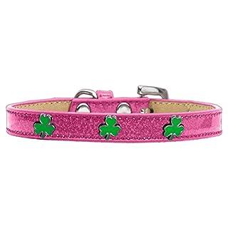 Mirage Pet Products 633-21 PK18 Shamrock Widget Ice Cream Dog Collar, Size 18, Pink
